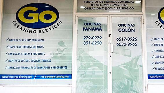 Oficinas de Go Services S.A. servicios de limpieza en ciudad de Panamá